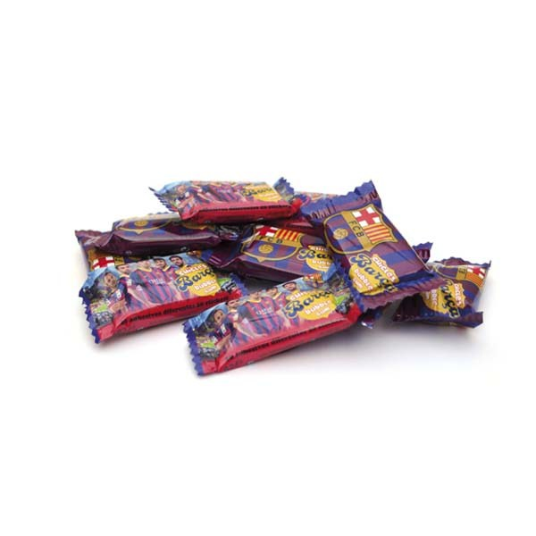 chicle-fresa-fc-barcelona-adhesivos-coleccionables